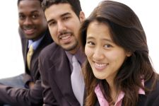 Racially diverse professionals