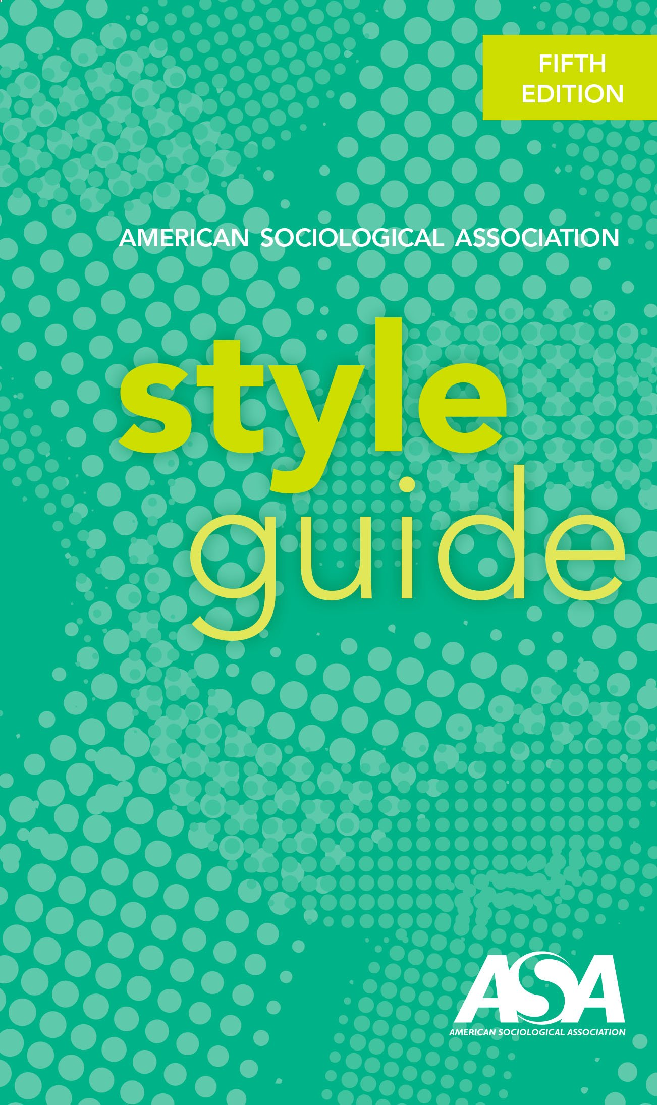 Cover art for ASA style guide