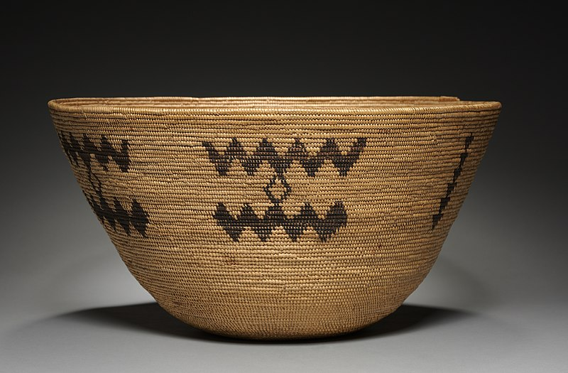 Food bowl from California, Pala- Luiseno, Pala Mission, late 19th - early 20th century
