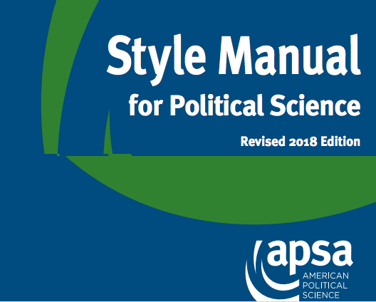 APSA Style Manual Cover