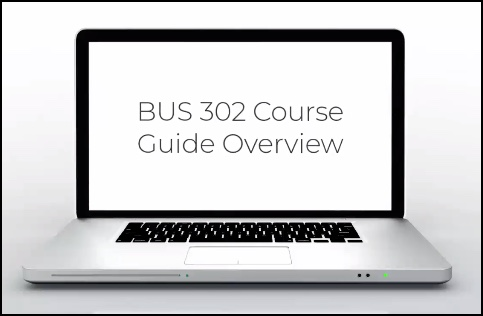 image of computer with bus 302 course guide