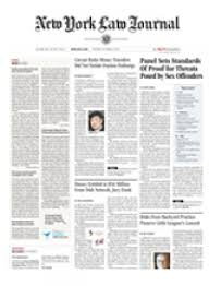 New York Law Journal front page