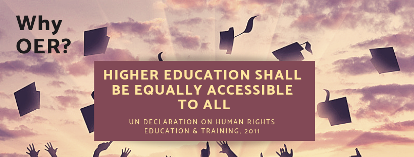 Image. Higher educational shall be equally accessible to all. UN declaration on human rights, education, and training 2011.