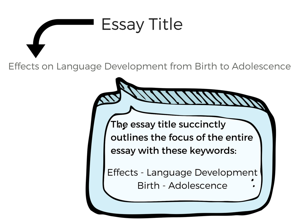 Essay title