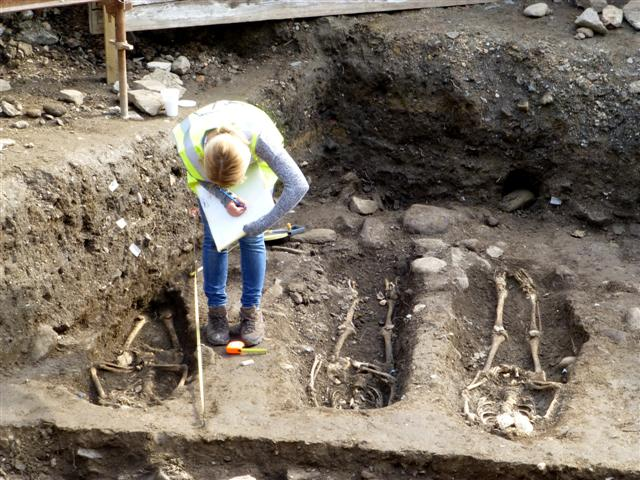Picture of an archaeological dig in Londonderry