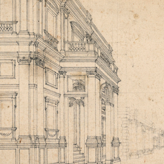 Stage Design: City Street with Palaces from the Smithsonian