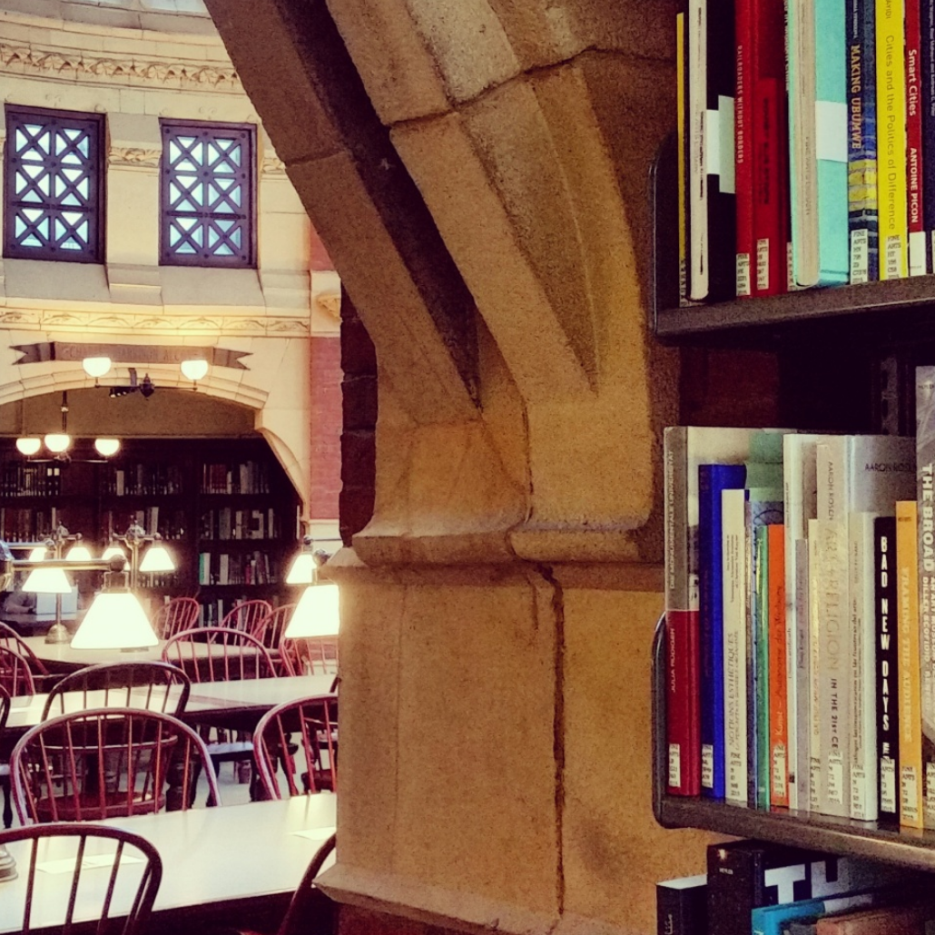 inside Fisher Fine Arts Library