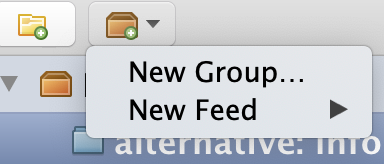 screenshot showing Zotero Group menu options: New Group or New Feed