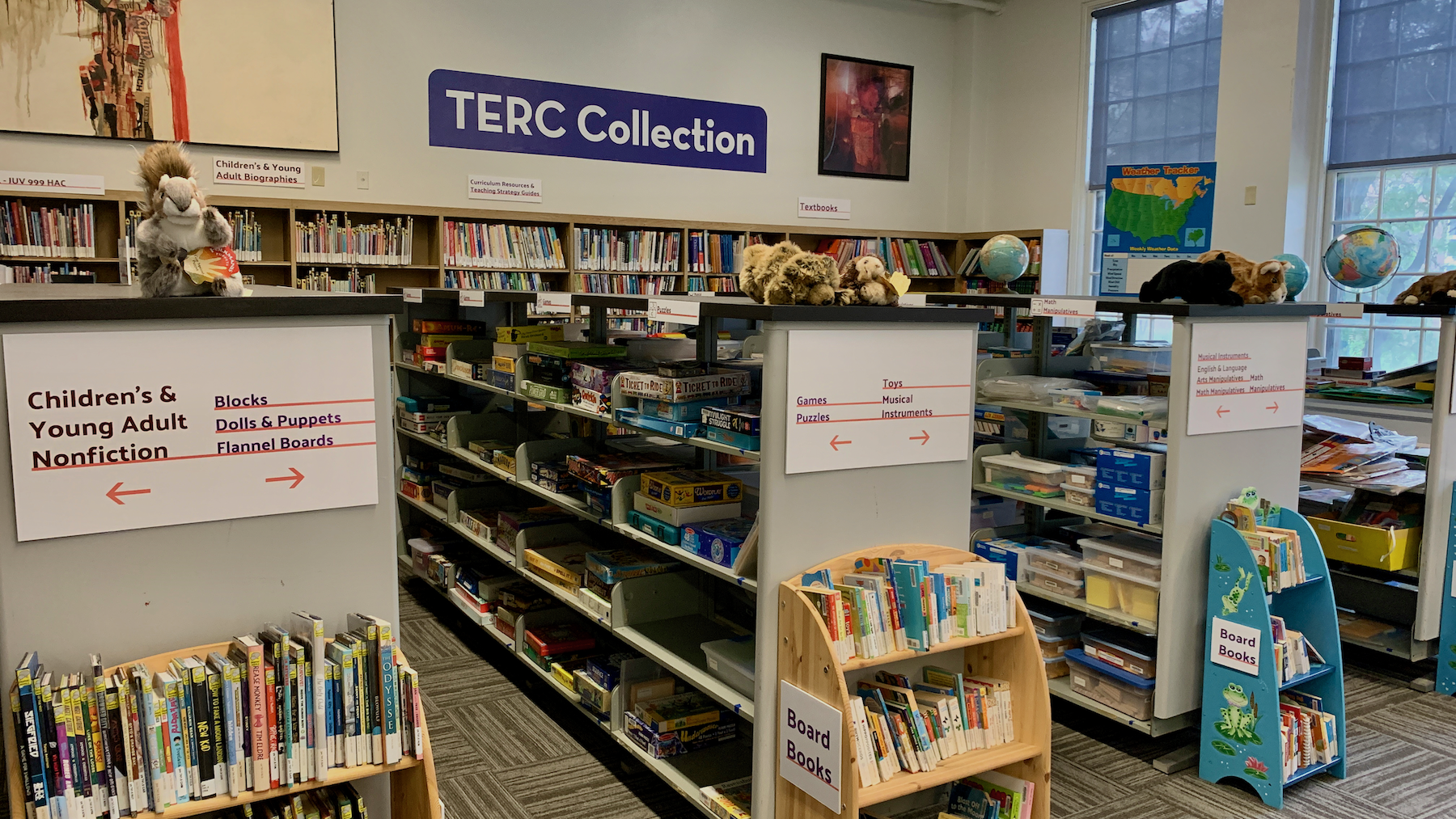 Overview of items in the TERC Collection