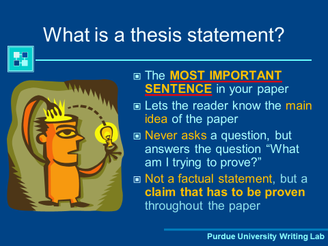 Thesis Statements Slide Show