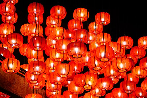 Chinese New Year Celebrations with Lanterns in Singapore