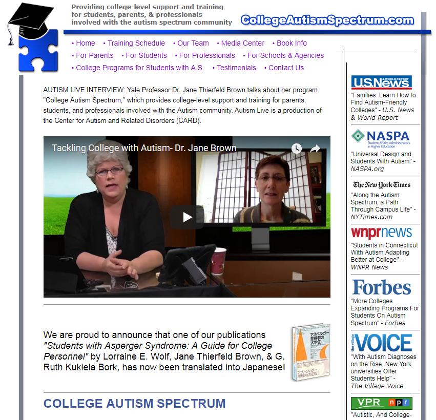 College Autism Spectrum cover