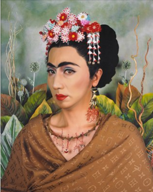 An Inner Dialogue with Frida Kahlo (Hand Shaped Earring) by Morimura Yasumasa