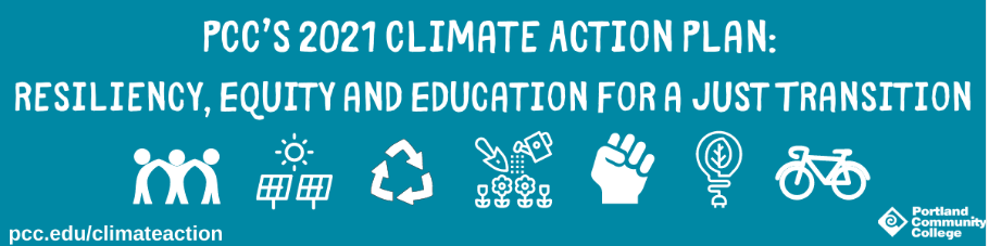 PCC's banner for the 2021 Climate Action Plan