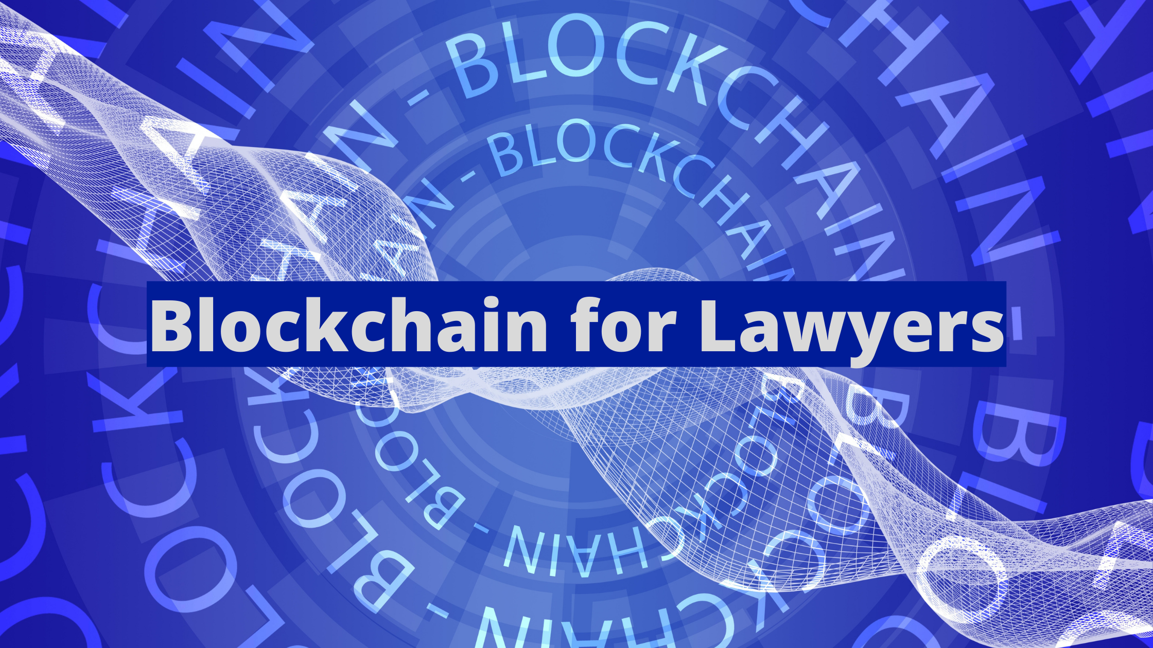"""Hues of blue circles with the word """"Blockchain"""""""