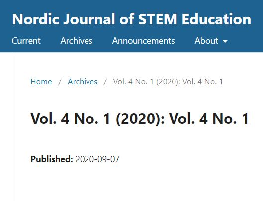 Nordic Journal of STEM Education