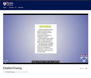 Image of citation chasing video