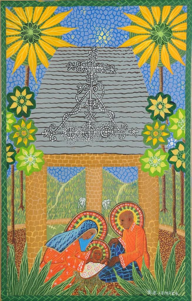 Colorful nativity scene