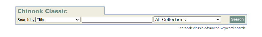 """Screenshot of CU Libraries' catalog search bar. """"Advanced Search"""" link available under search bar"""