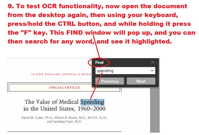 The PDF is not OCR compliant and can be read by screen readers.