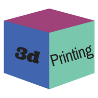 """cube with """"3d printing"""" written on it"""