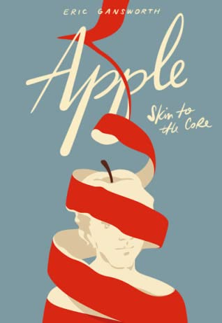 cover of Apple, a cartoon drawing of an apple with a spiraled peel against a gray blue background it's really quite attractive