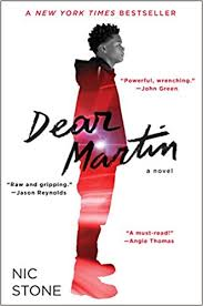 Image of the cover of Dear Martin by Nic Stone