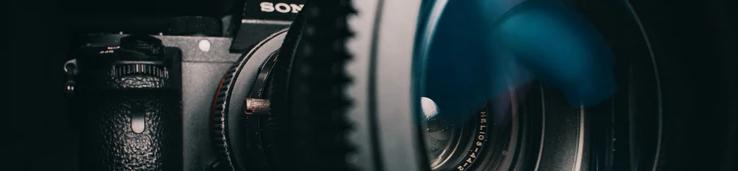 Ornamental image of a camera lens