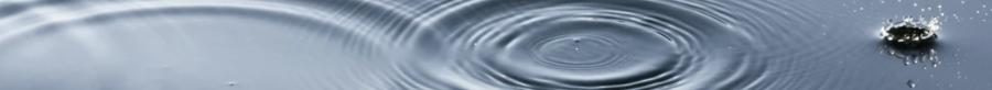 Ornamental image of raindrops falling into still water
