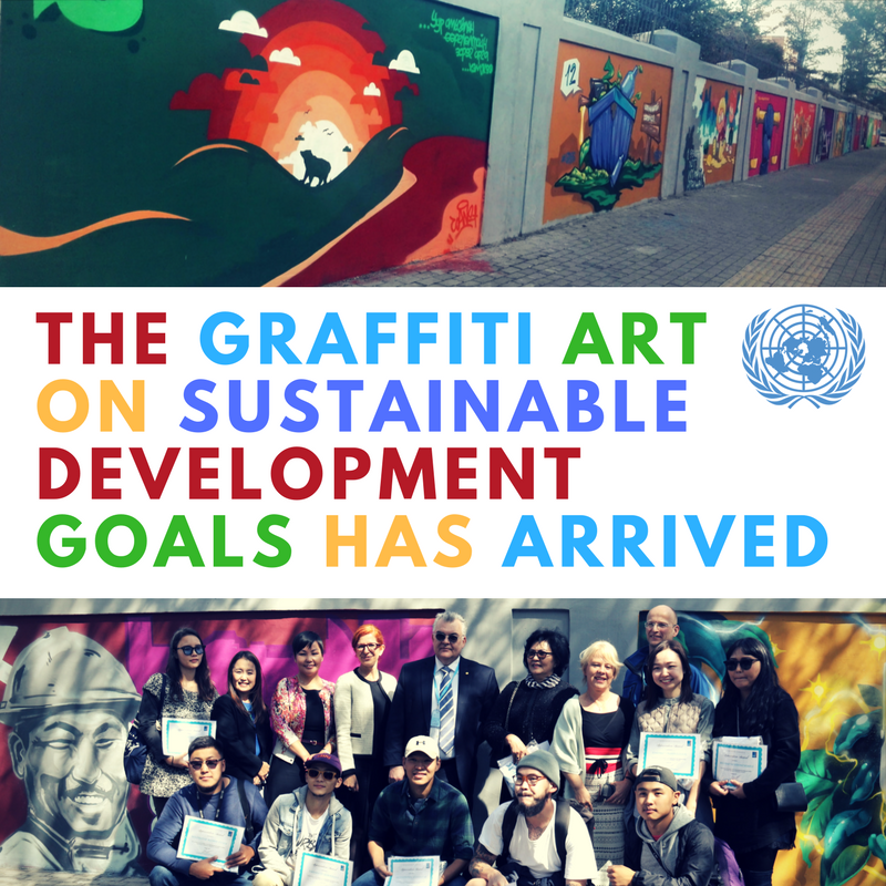 The graffiti art on sustainable development goals has arrived