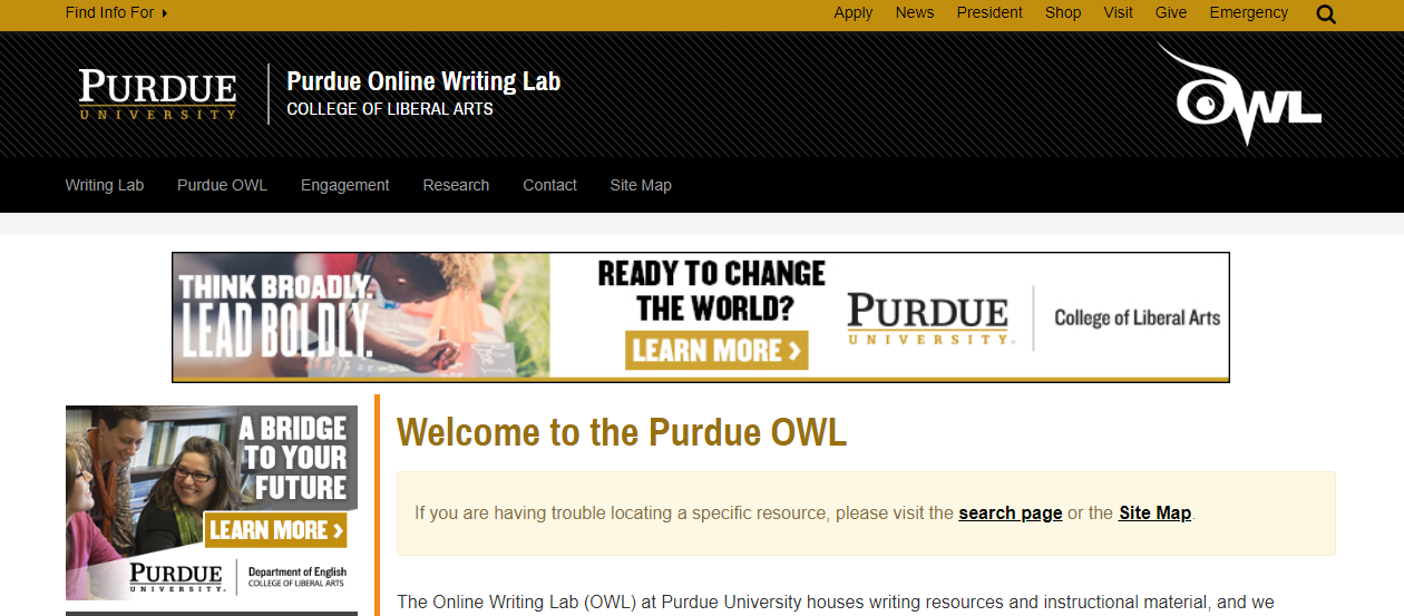 Purdue Online Writing Lab Home
