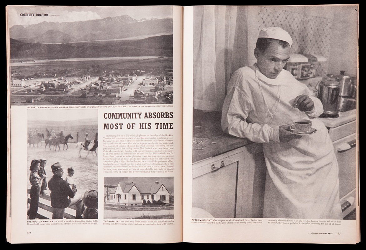 LIFE MAGAZINE Country Doctor Photo Essay