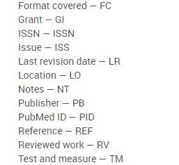 Screenshot of advanced search options