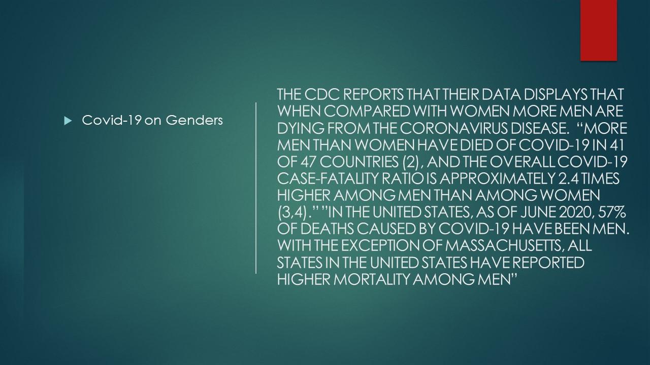 COVID-19 on gender