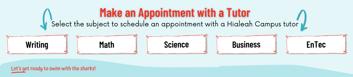 Make an Appointment with a tutor