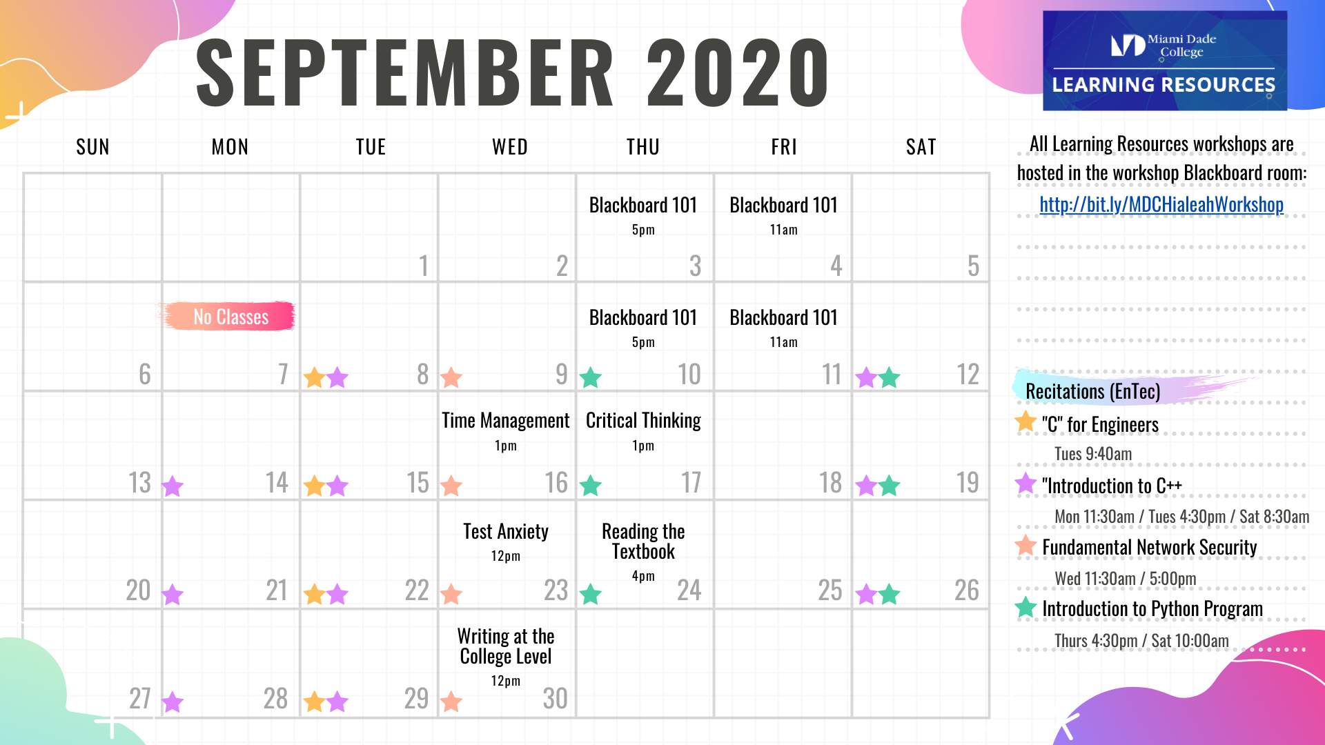 Monthly Workshops