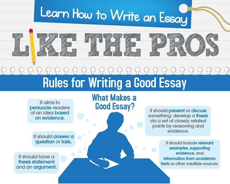 Learn how to write an essay like the pros infographic