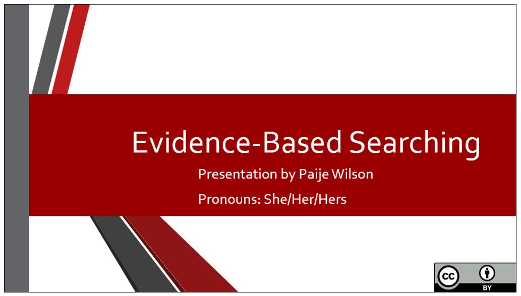 Evidence Based Searching thumbnail image