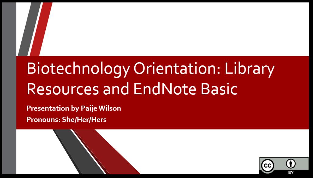 Orientation title slide