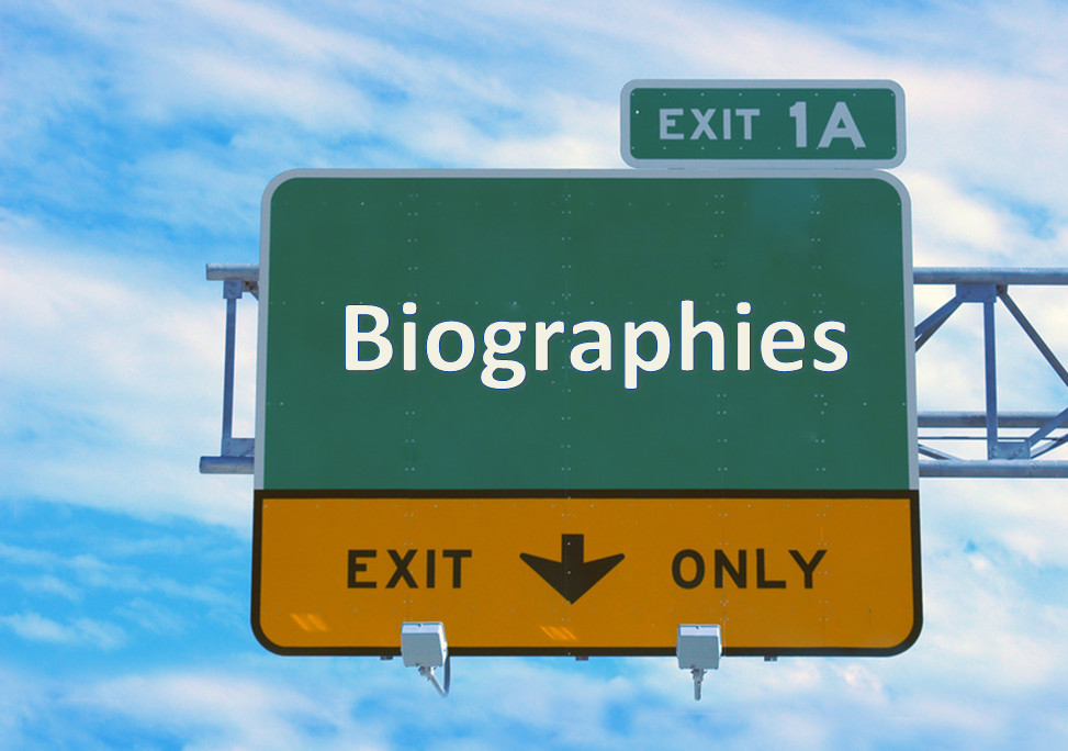Highway Sign for Biographies Exit