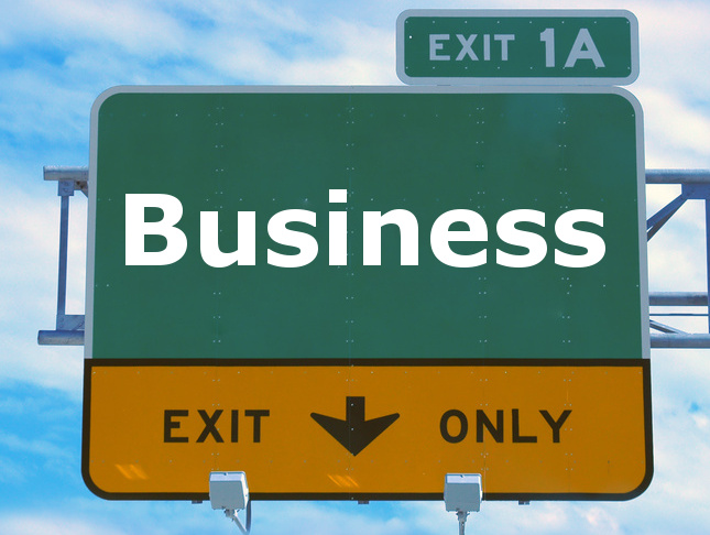 Highway Sign for Business Exit