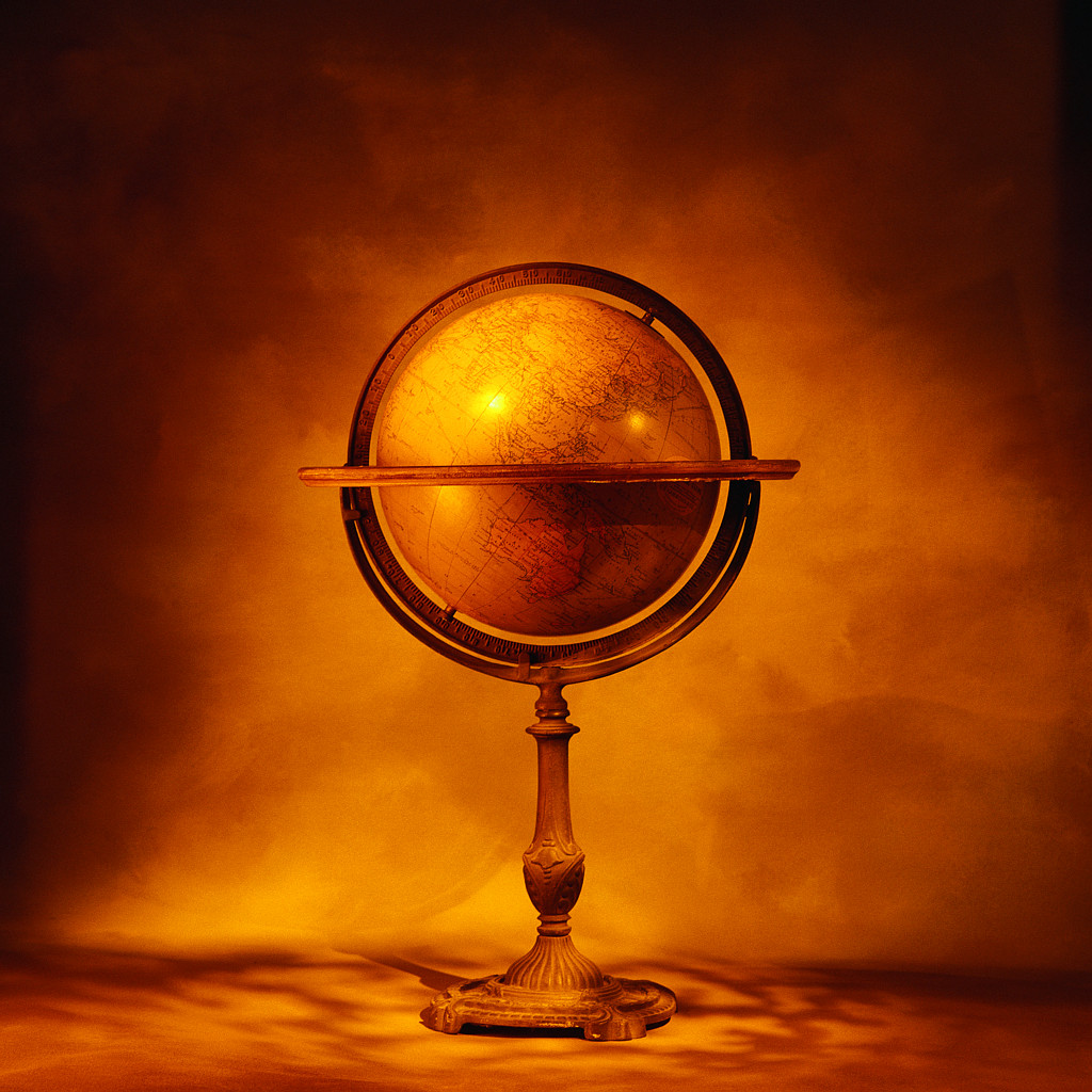 Picture of Globe on Wooden Stand