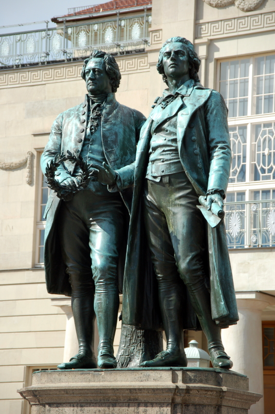 Statues of Goethe and Schiller