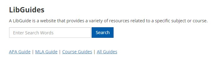 LibGuides search