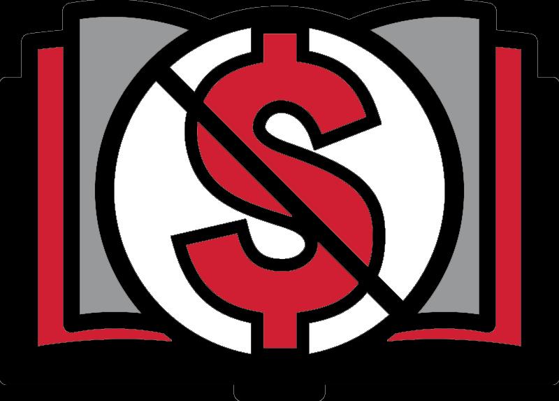 Zero Cost Logo, slash across dollar sign
