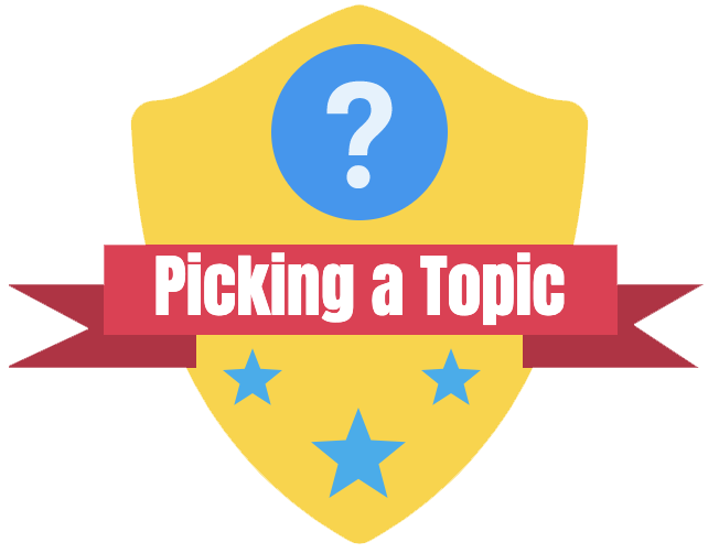 Picking a Topic Badge