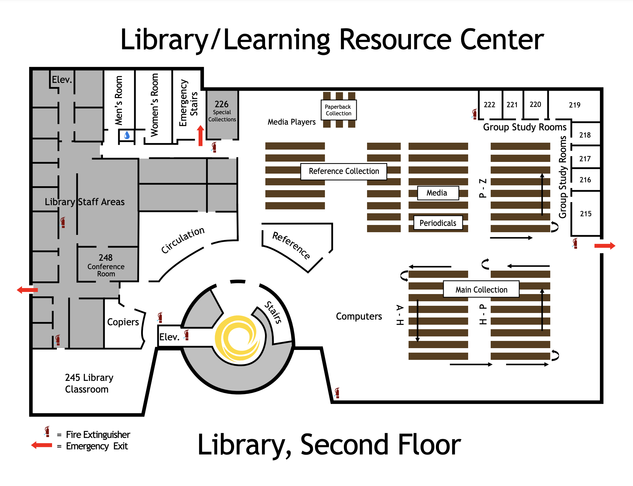 Library Map Image