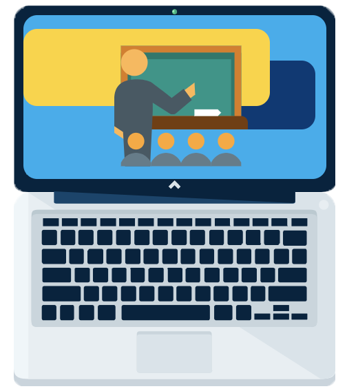 Online Instruction Laptop Icon