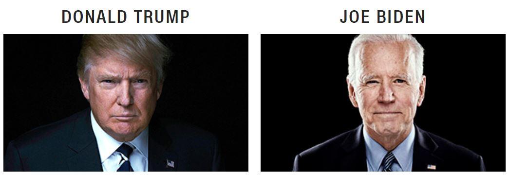 pictures of Trump & Biden