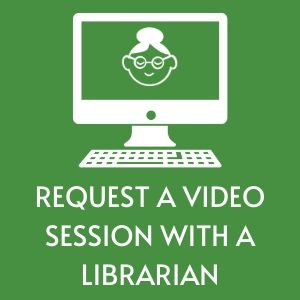 icon with a picture of a librarian in a computer